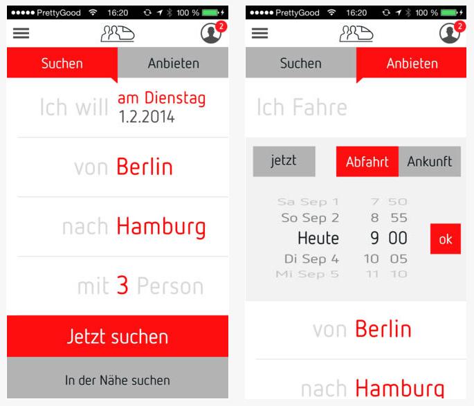 BahnSharing App