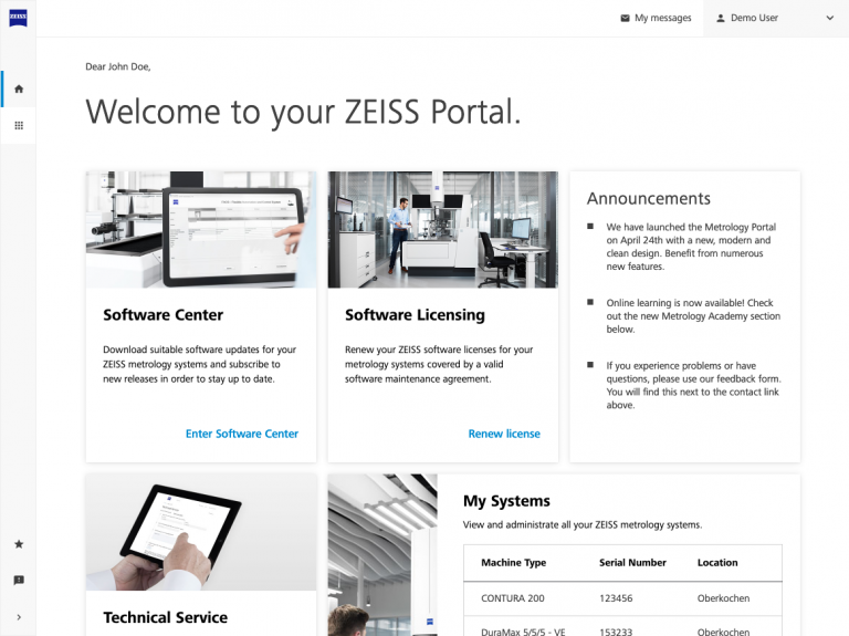 ZEISS Metrology Portal