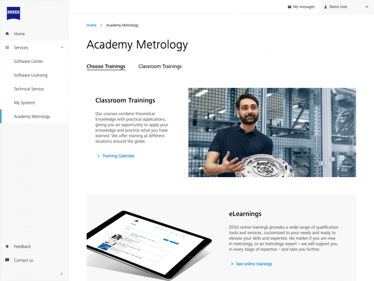 ZEISS Metrology Portal – Academy