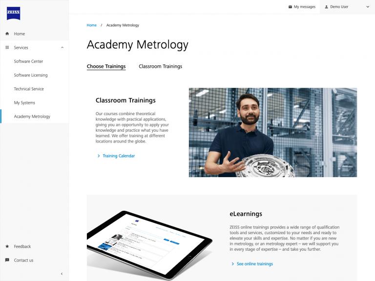 ZEISS Metrology Portal – Academy